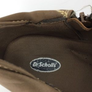 Dr. Scholl's Shoes - Tan Low Ankle Zip-side Flap Foldover Booties BOHO